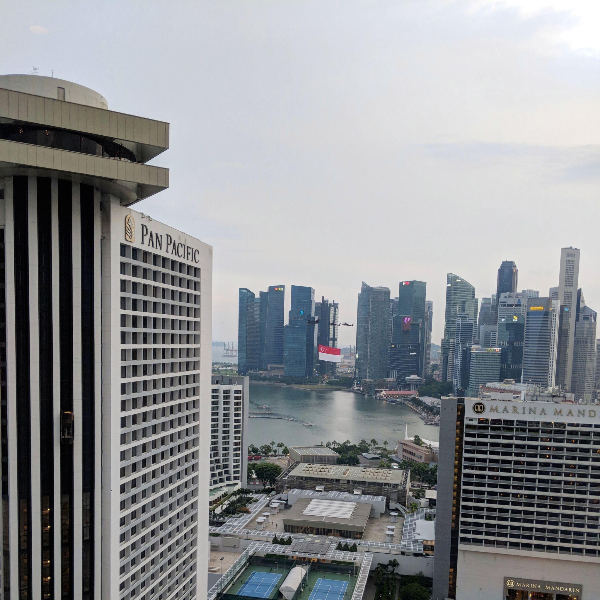 conrad centennial singapore executive lounge view