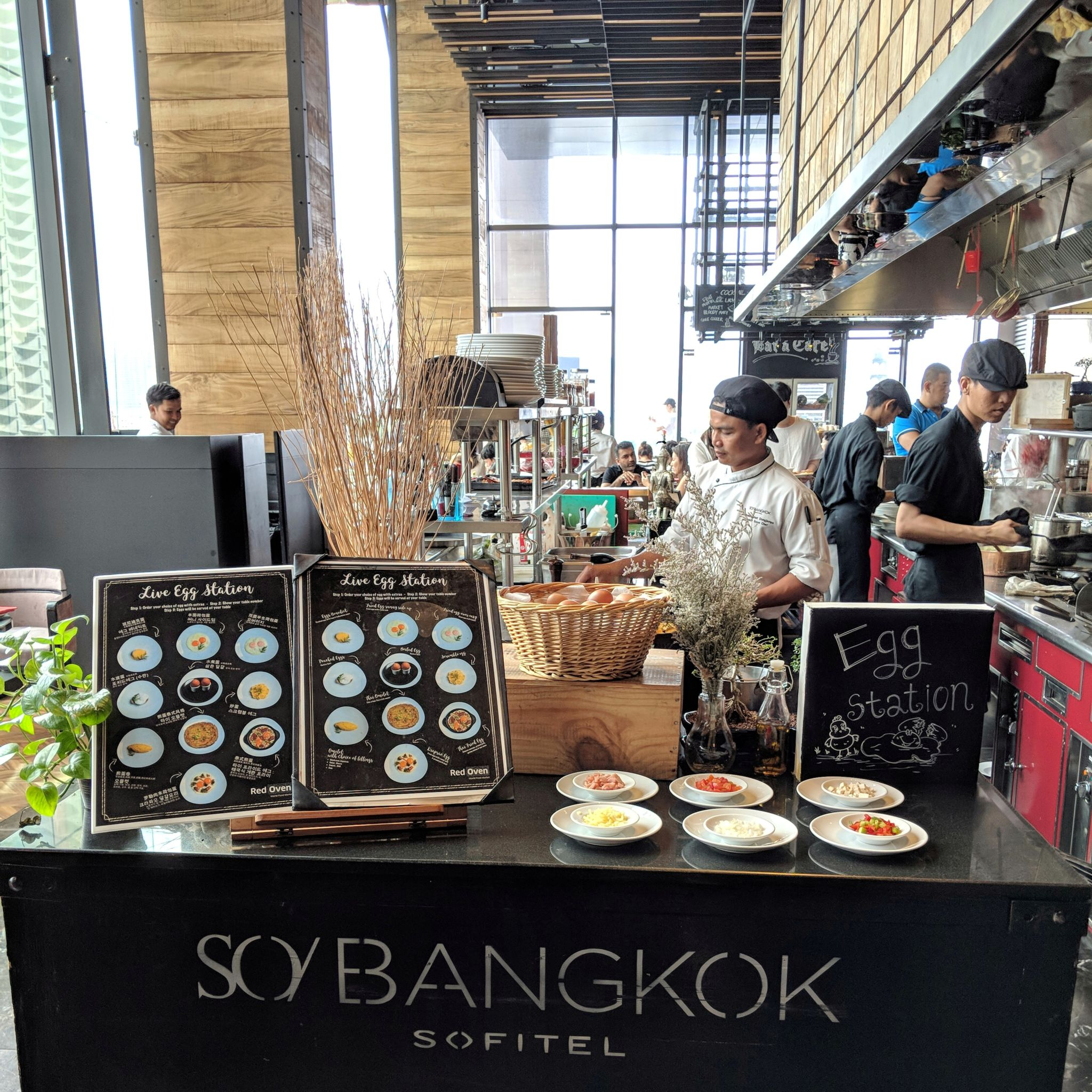 SO Sofitel Bangkok breakfast egg station