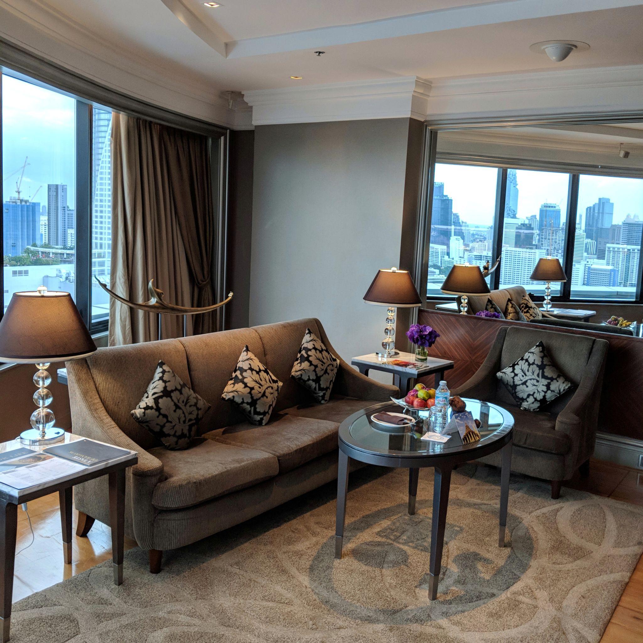 intercontinental bangkok ambassador suite living room