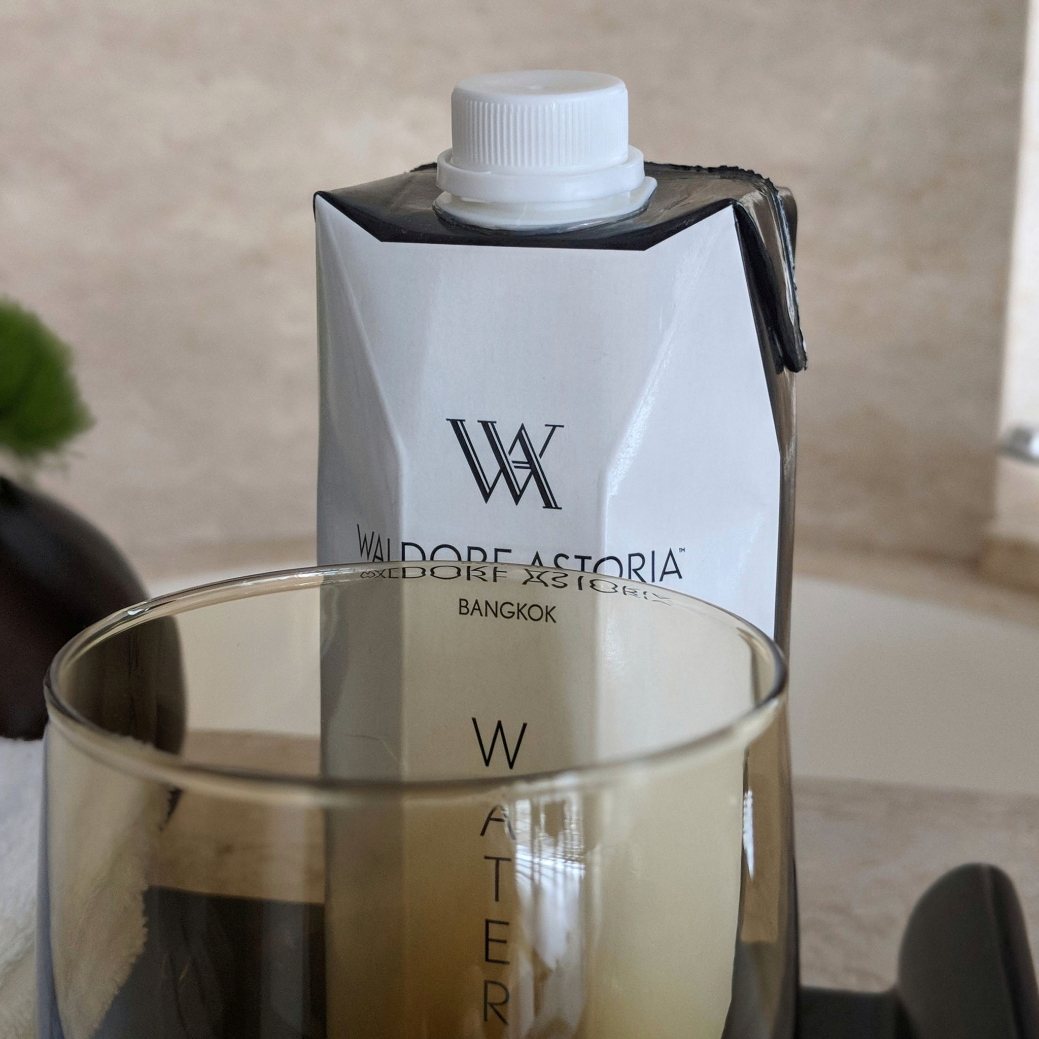 waldorf astoria bangkok king deluxe suite bottled water