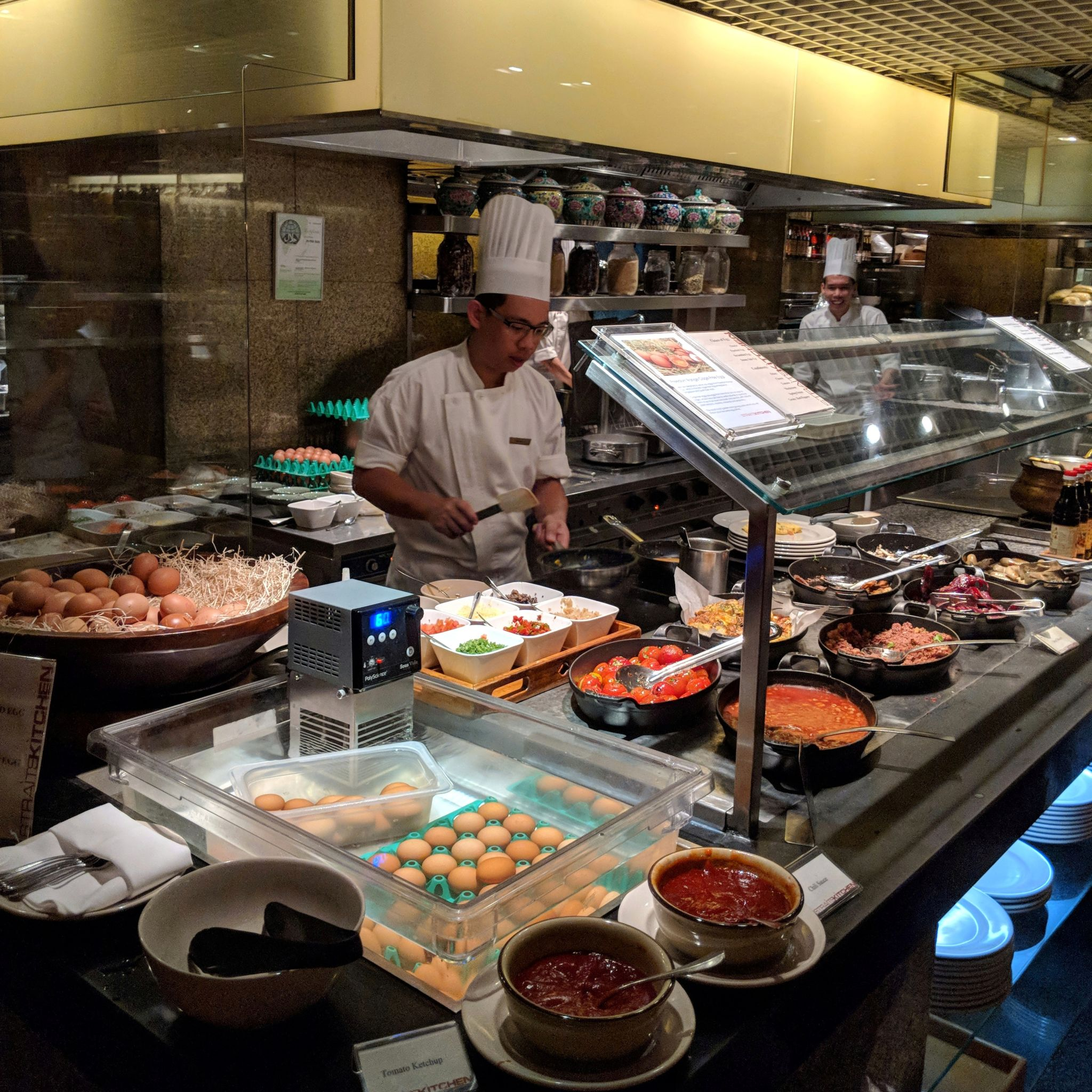 grand hyatt singapore straits kitchen breakfast