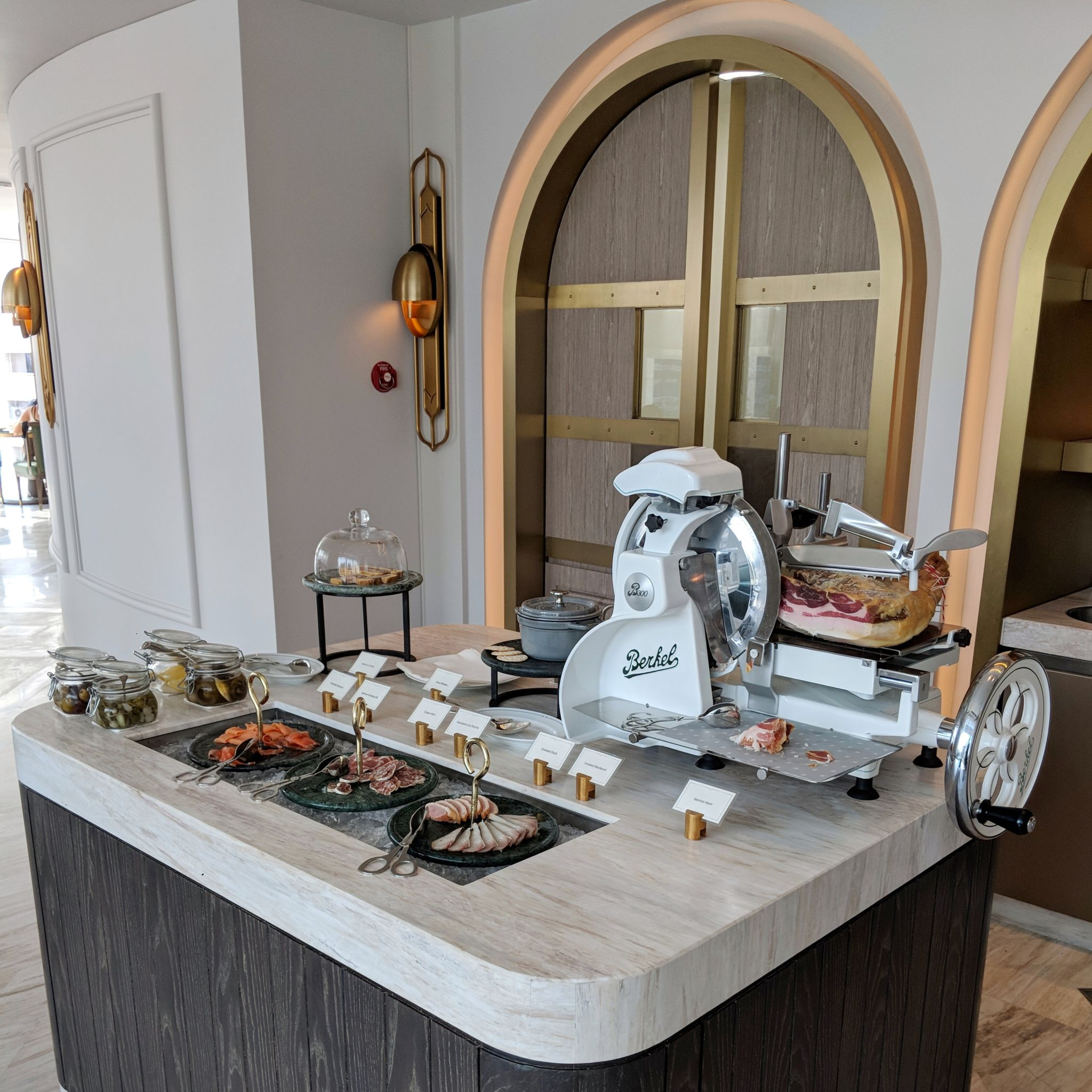 waldorf astoria bangkok the brasserie breakfast cold cuts
