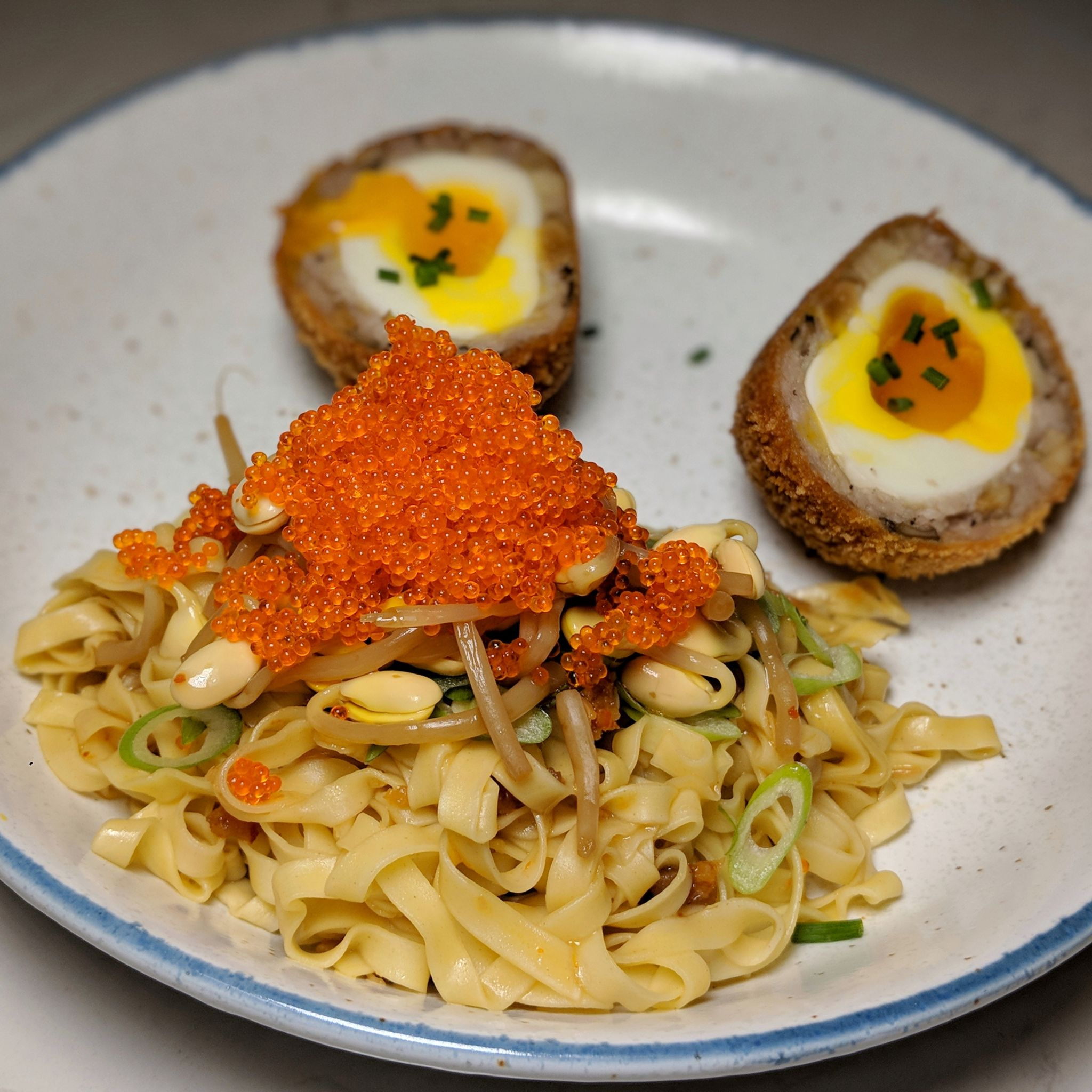 the obelisk bak chor mee scotch egg