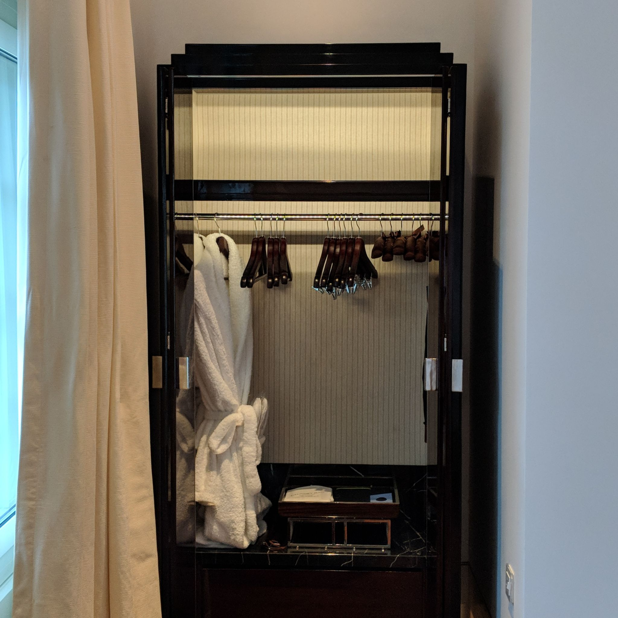 The Capitol Kempinski Hotel Singapore stamford suite wardrobe