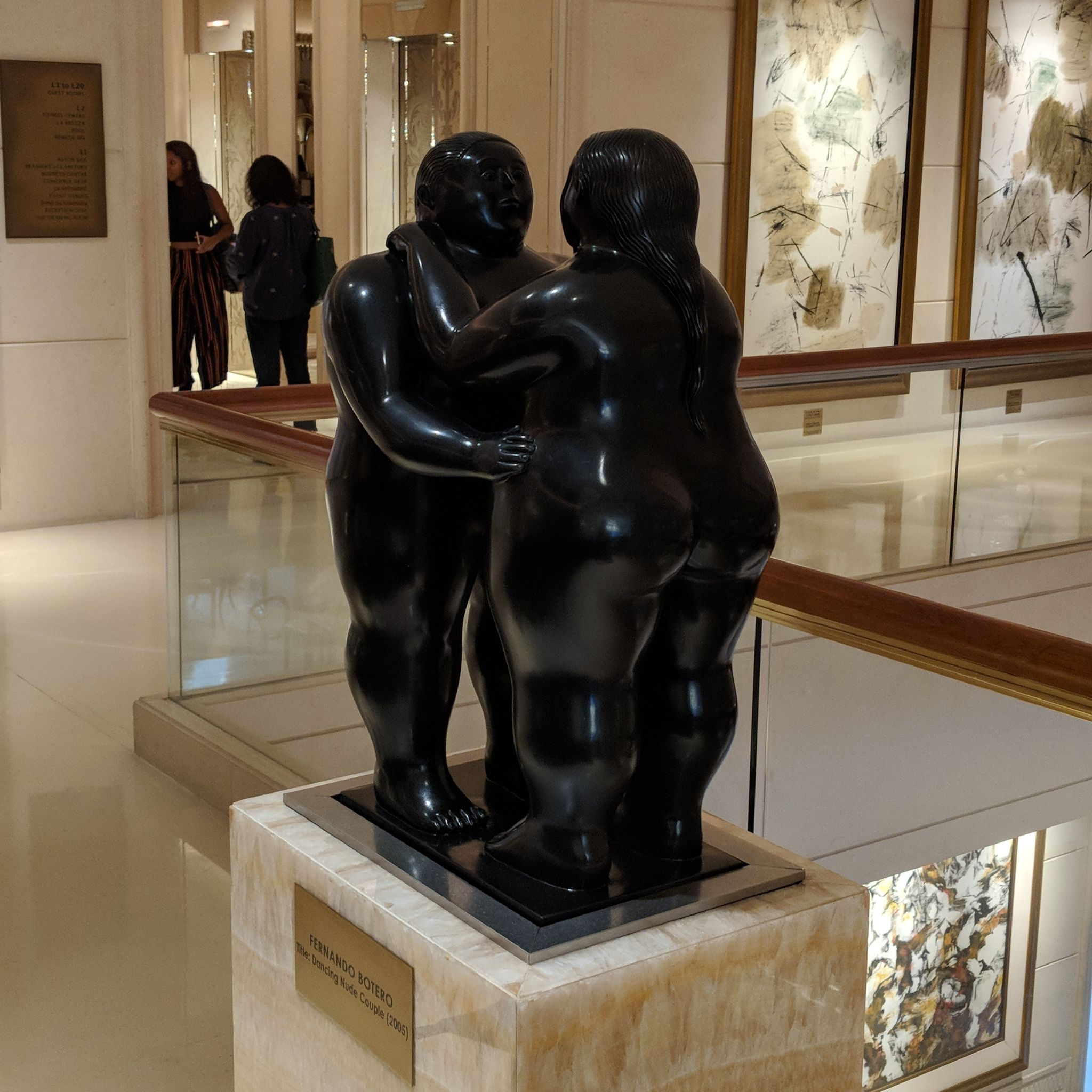 the st. regis singapore Fernando Botero Sculpture