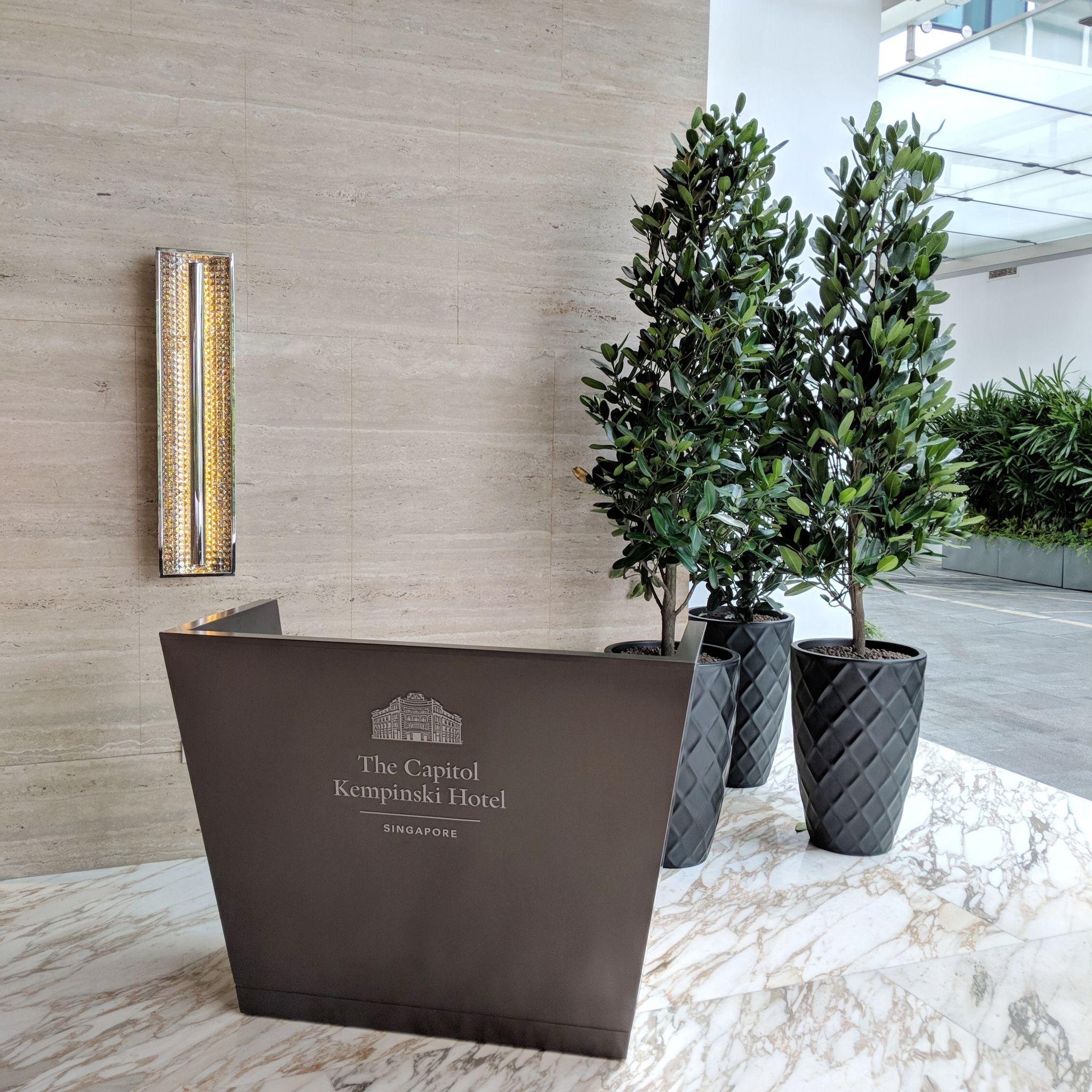 The Capitol Kempinski Hotel Singapore entrance