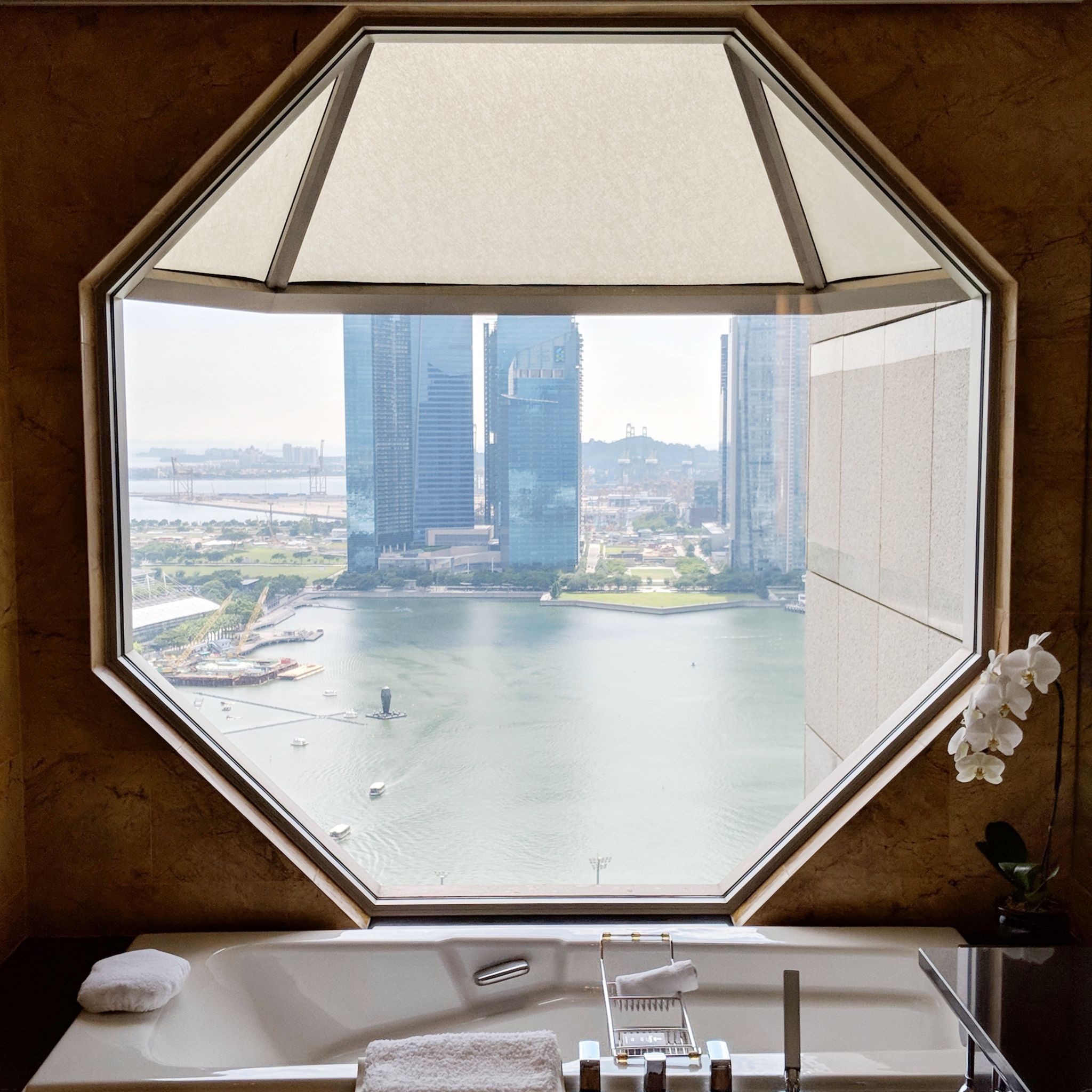 the ritz-carlton, millenia singapore one-bedroom millenia suite bathtub