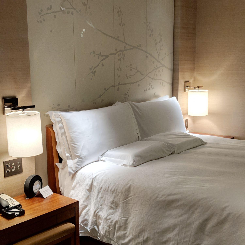 conrad tokyo king suite bay corner bedroom