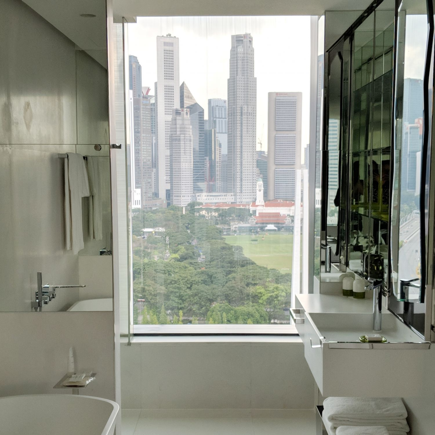 jw marriott singapore south beach executive suite with premier marina bay view bathroom