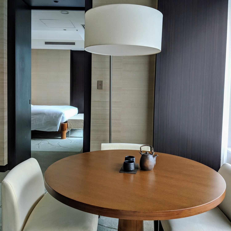 conrad tokyo king suite bay corner living room