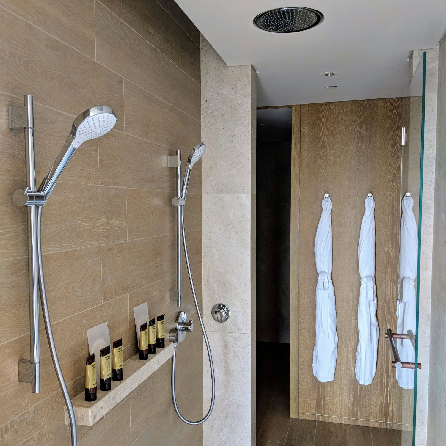 andaz singapore Andaz Large Suite King bathroom double shower