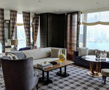 rosewood hong kong grand harbour corner suite living room