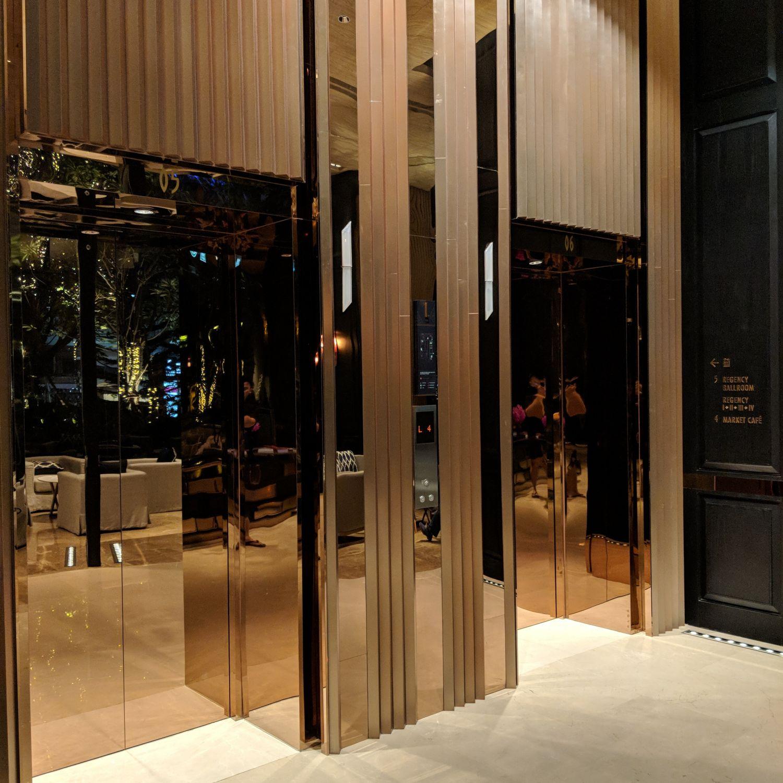 Hyatt Regency Bangkok Sukhumvit elevator lobby