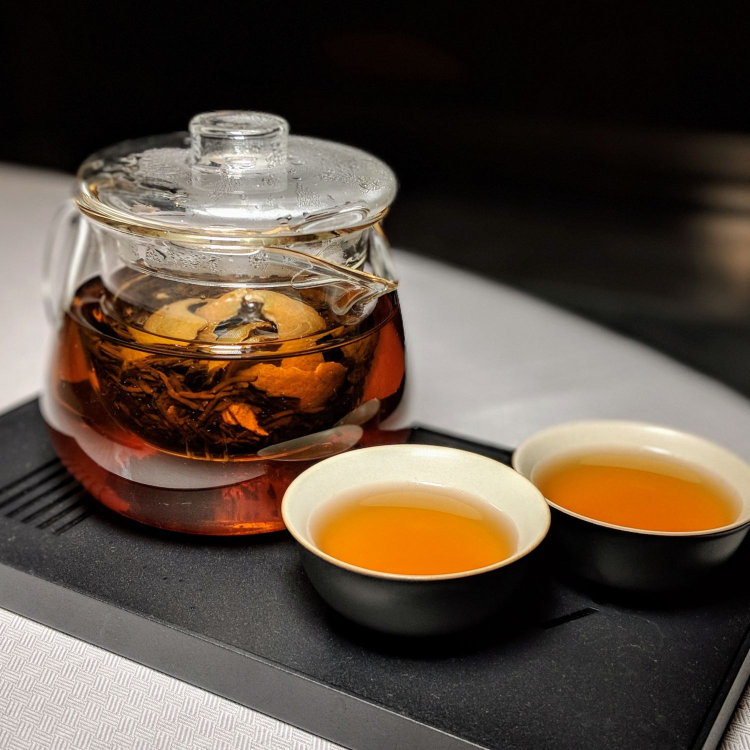 the st. regis hong kong run pu-erh tea with tangerine peel
