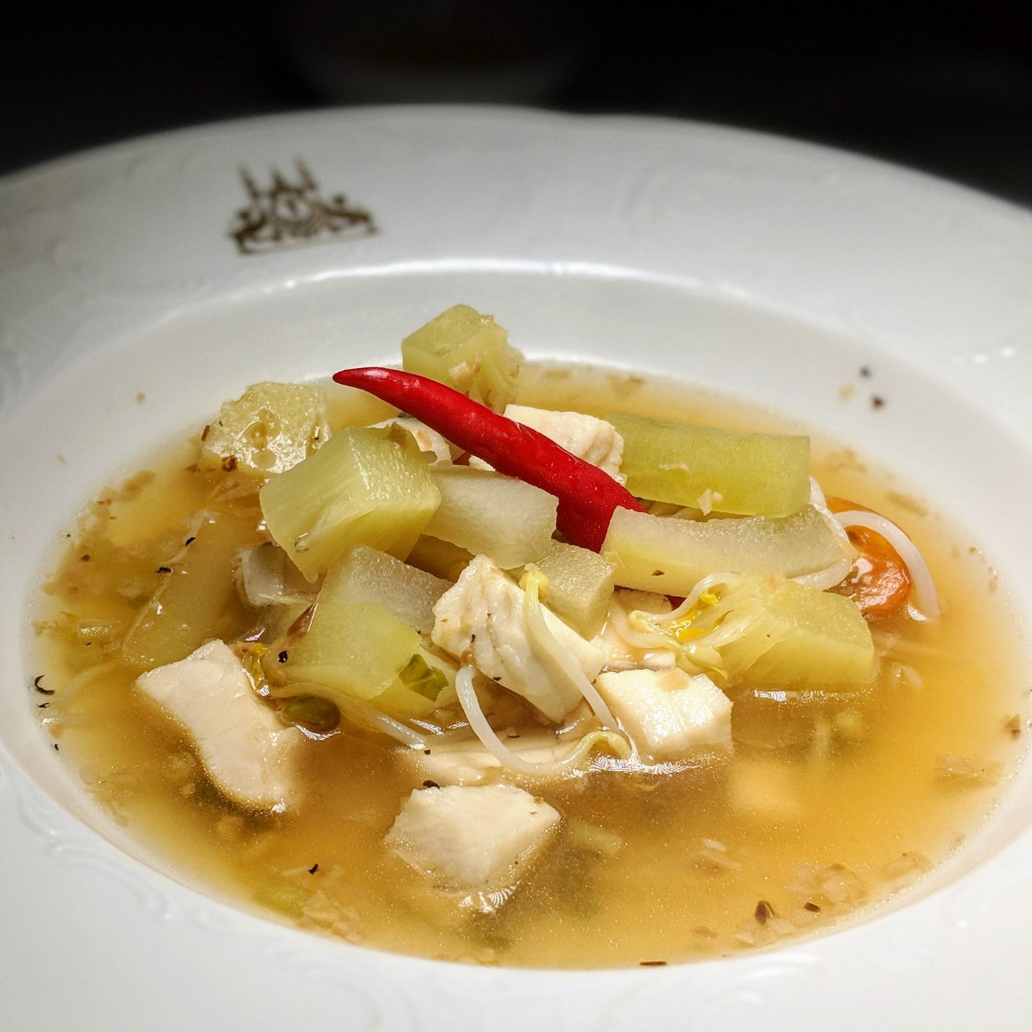 raffles hotel le royal phnom penh Restaurant Le Royal Fish Soup with Pineapple and Local Herbs