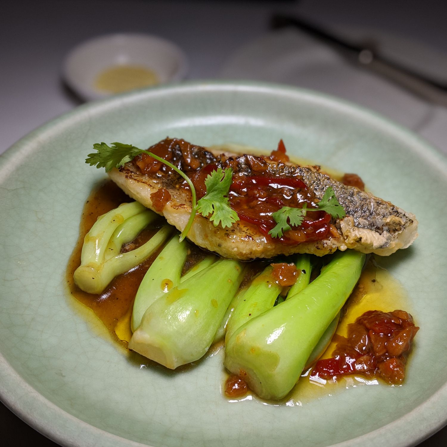 raffles hotel le royal phnom penh Restaurant Le Royal Seared Elephant Fish with Tamarind Sauce