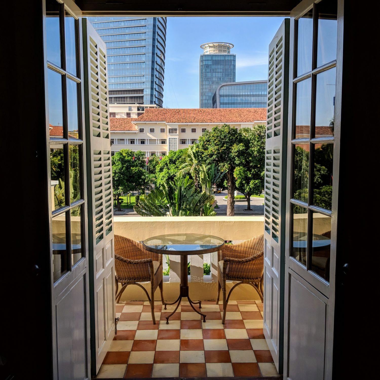 raffles hotel le royal phnom penh Somerset Maugham Suite balcony