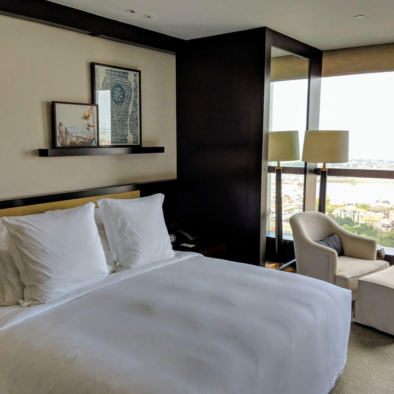 rosewood phnom penh Rosewood Suite bedroom