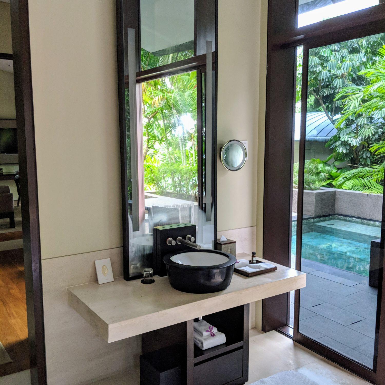 capella singapore One Bedroom Garden Villa bathroom vanity