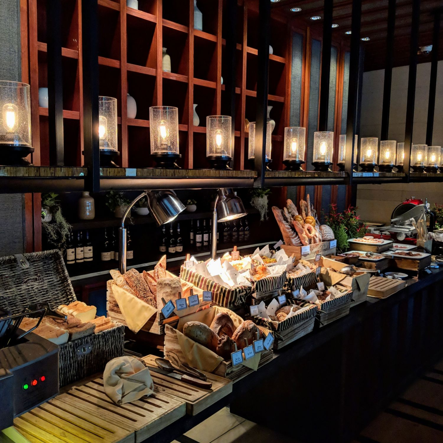 capella singapore The Knolls breakfast bread and pastry station