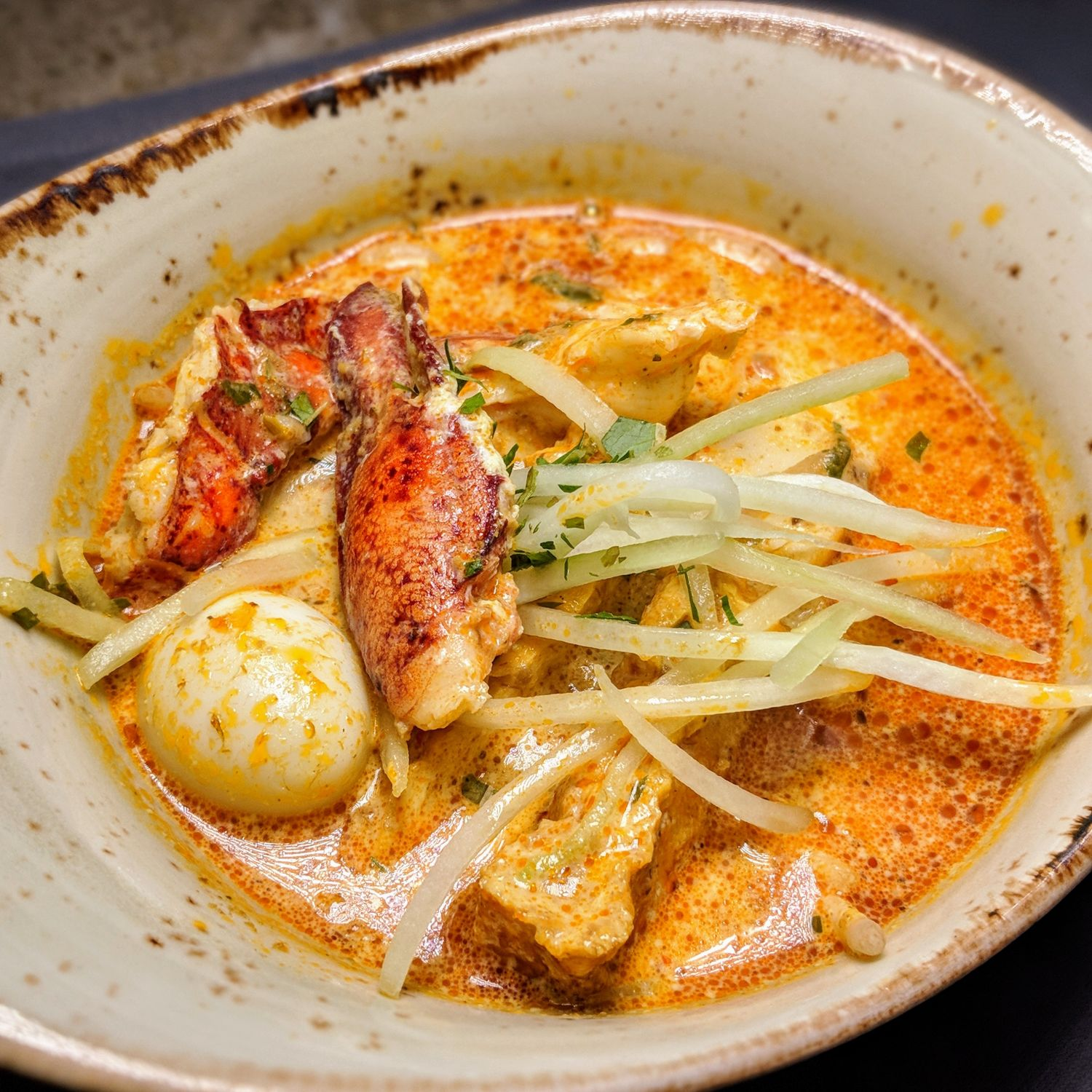The Fullerton Bay Hotel Singapore The Clifford Pier Lobster Laksa