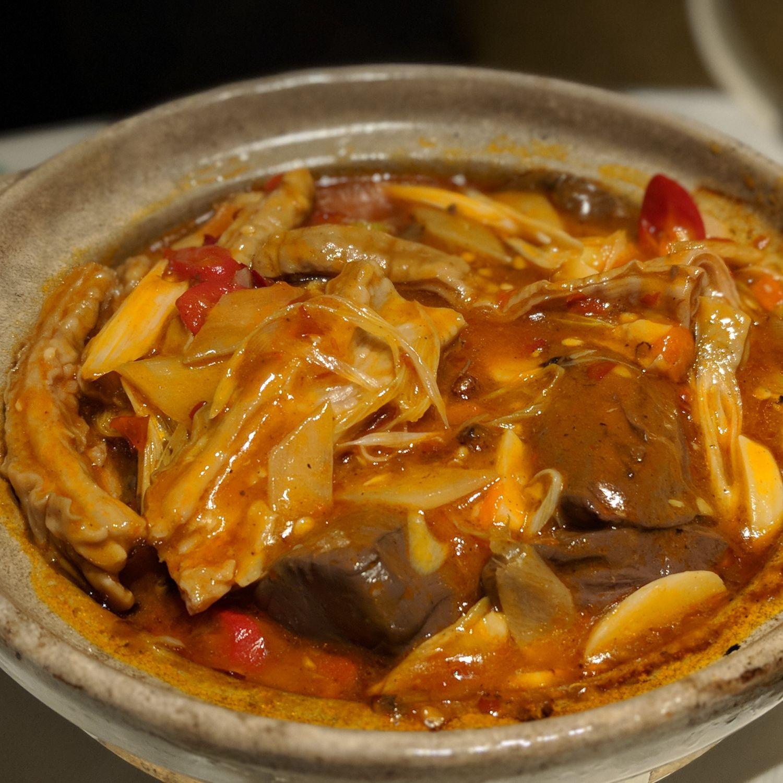 grand hyatt taipei Yun Jin Spicy Braised Pork Intestine with Blood Pudding