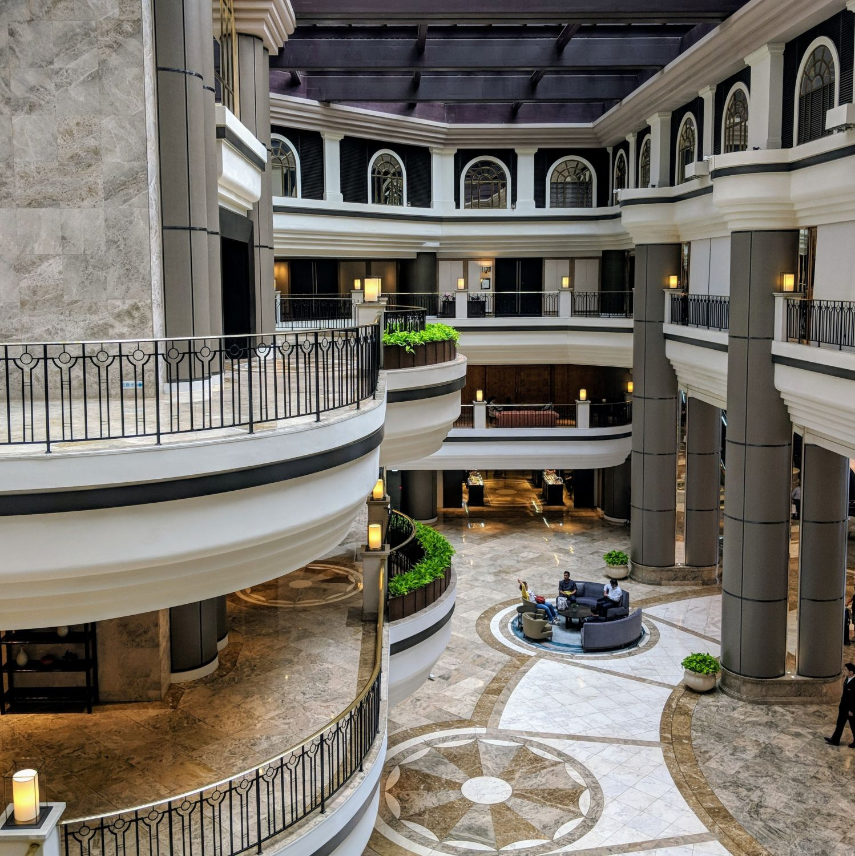 grand hyatt taipei lobby atrium