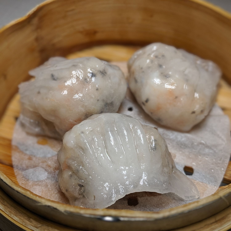 grand hyatt taipei pearl liang Steamed Prawn Dumpling with Black Truffle