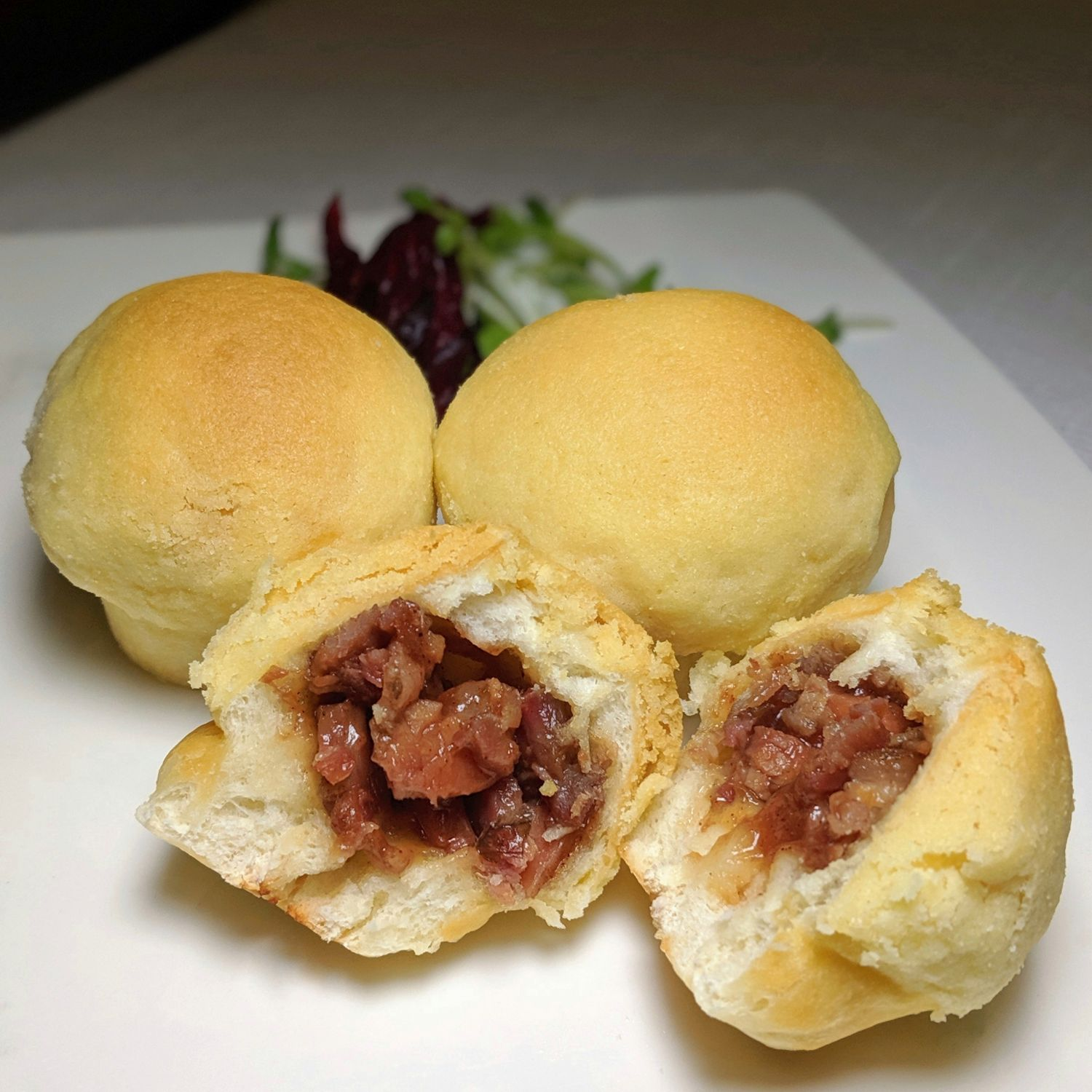 grand hyatt taipei pearl liang Baked Barbecued Pork Bun with Almond Cream Crumble