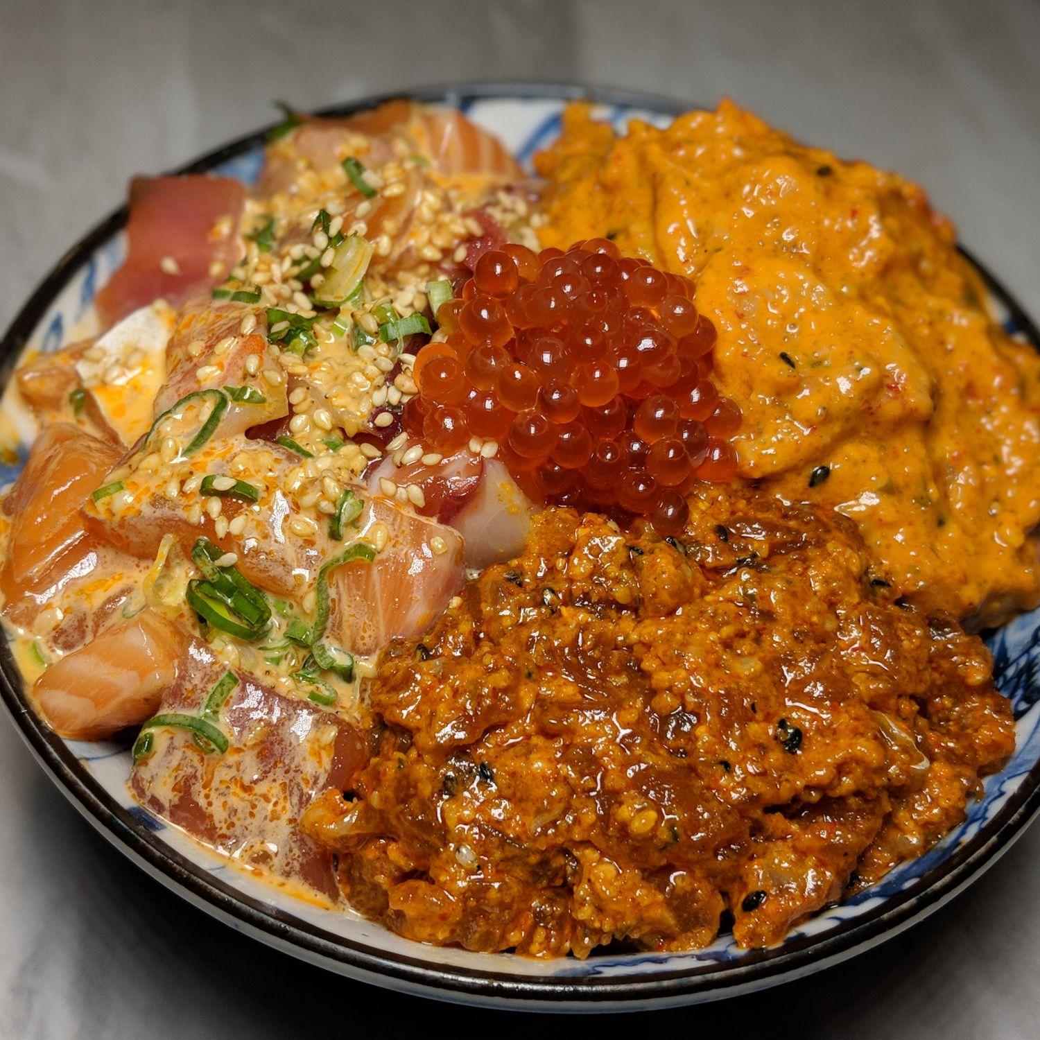 Omote Singapore Spicy Triple Chirashi Don