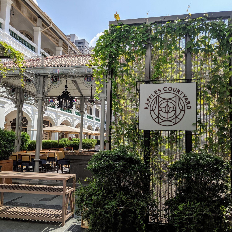 raffles hotel singapore raffles courtyard