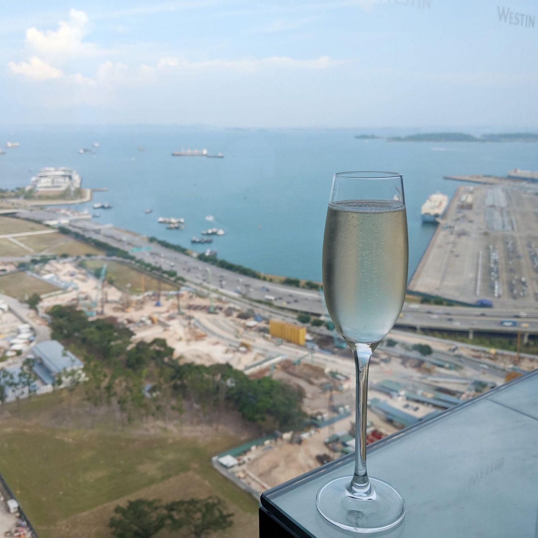 the westin singapore westin club evening cocktail hour sparkling wine
