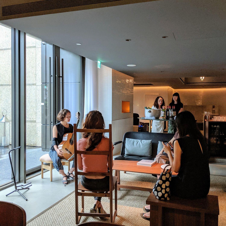 kimpton da an hotel taipei lobby living room social hour