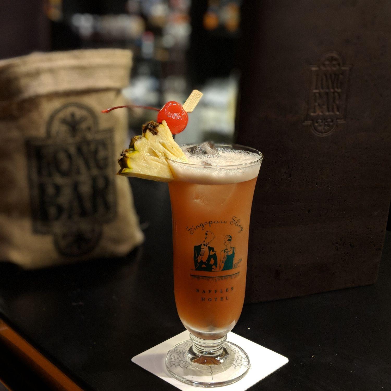raffles hotel singapore long bar singapore sling