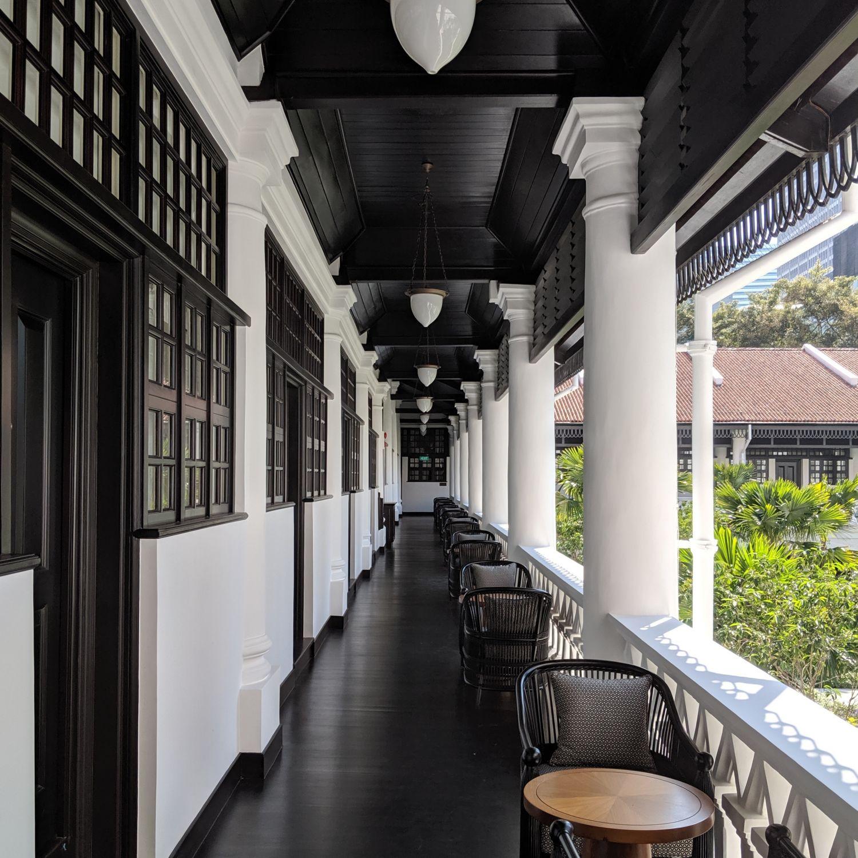 raffles hotel singapore palm court wing corridor