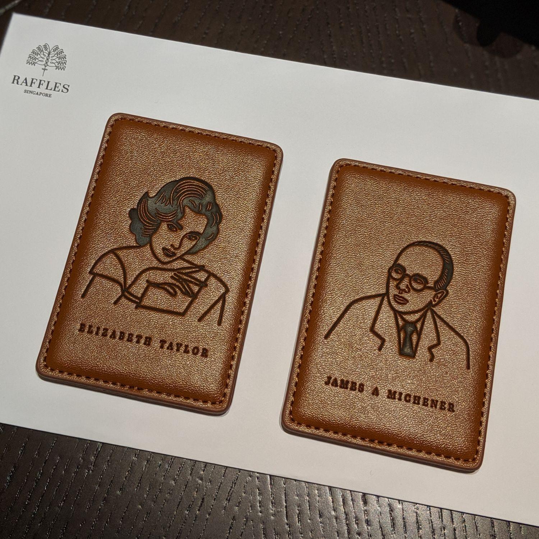 raffles hotel singapore palm court suite keycards