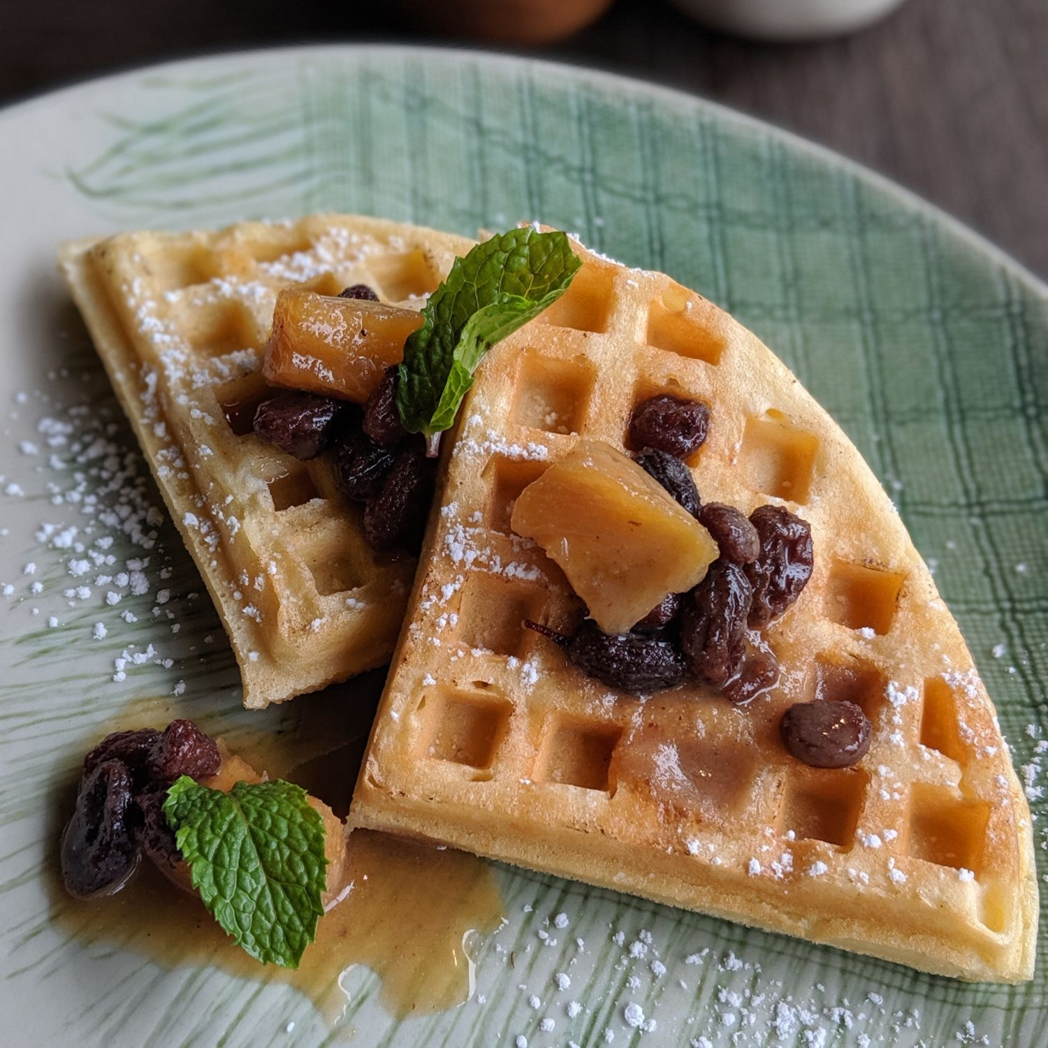 shinta mani wild headquarters Yeasted Waffle with Orange Honey Butter and Caramelised Pineapple