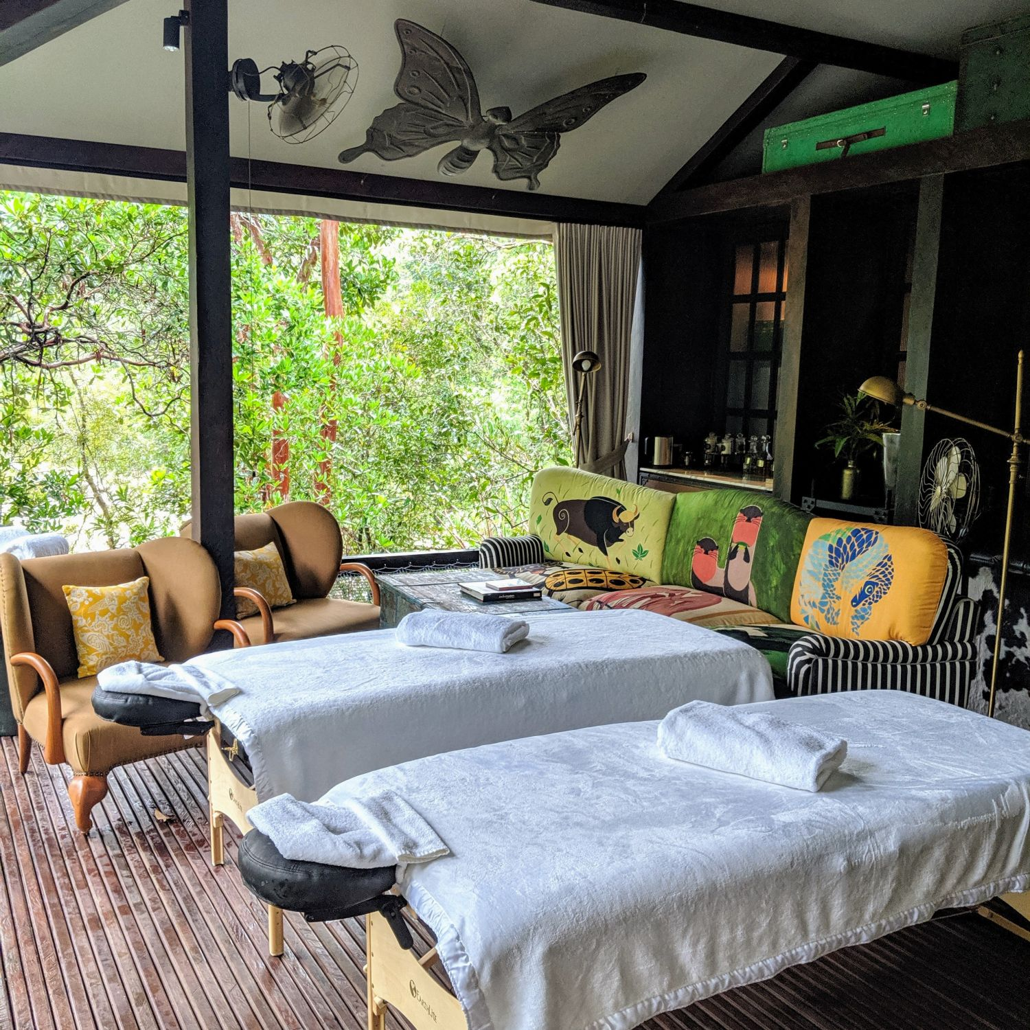 shinta mani wild butterfly tent khmer tonics spa treatment