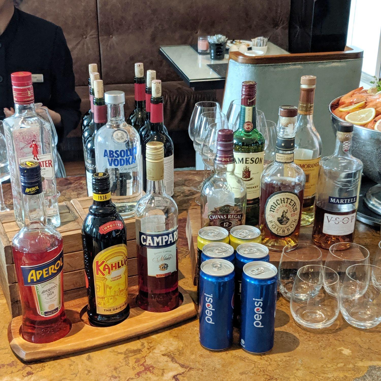 the westin singapore westin club lounge spirits