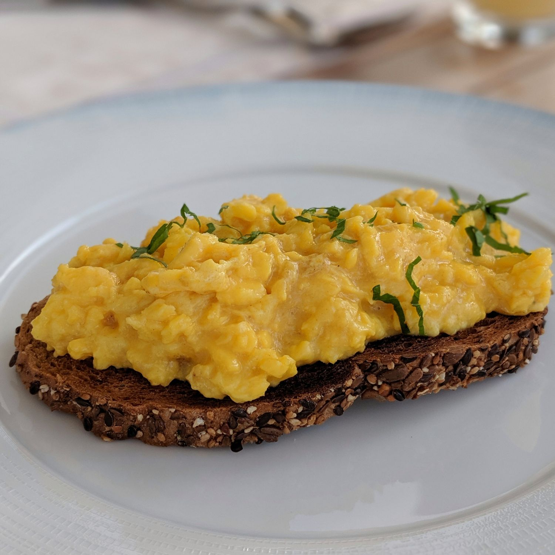 waldorf astoria maldives ithaafushi tasting table breakfast Scrambled Eggs
