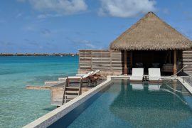 waldorf astoria maldives ithaafushi King Grand Reef Villa with Pool infinity pool