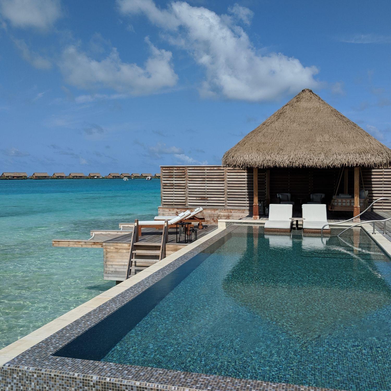 waldorf astoria maldives ithaafushi King Grand Reef Villa with Pool infinity pool