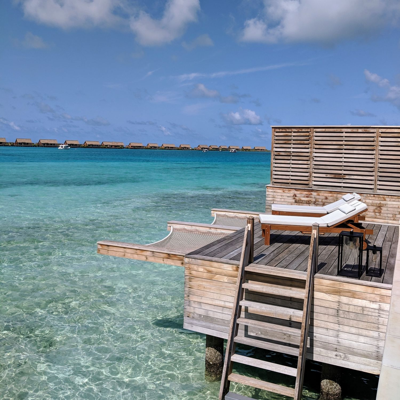 waldorf astoria maldives ithaafushi King Grand Reef Villa with Pool Sun Loungers and Hammock