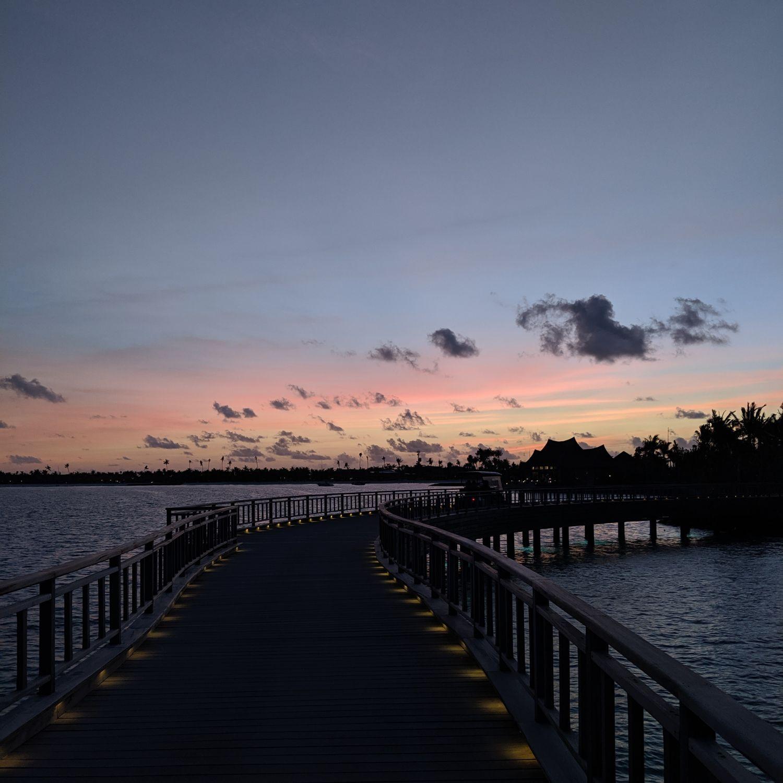 waldorf astoria maldives ithaafushi sunset