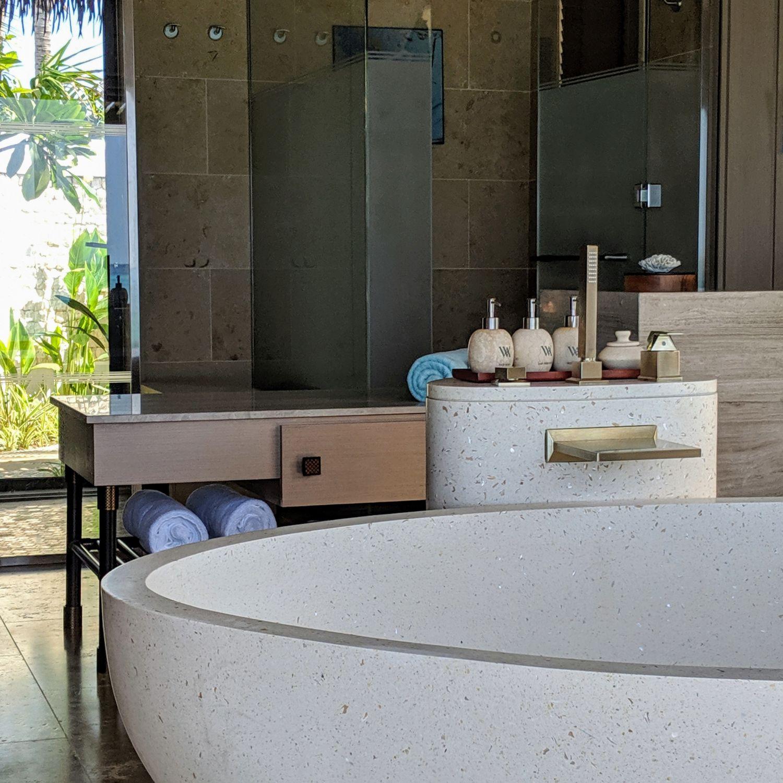 waldorf astoria maldives ithaafushi king beach villa with pool bathroom