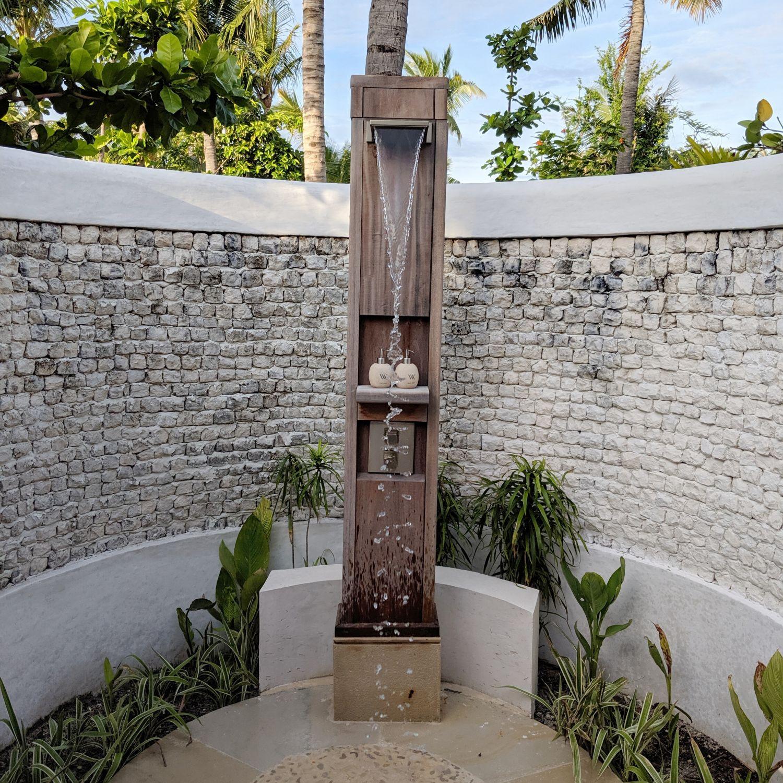 waldorf astoria maldives ithaafushi King Beach Villa with Pool outdoor shower
