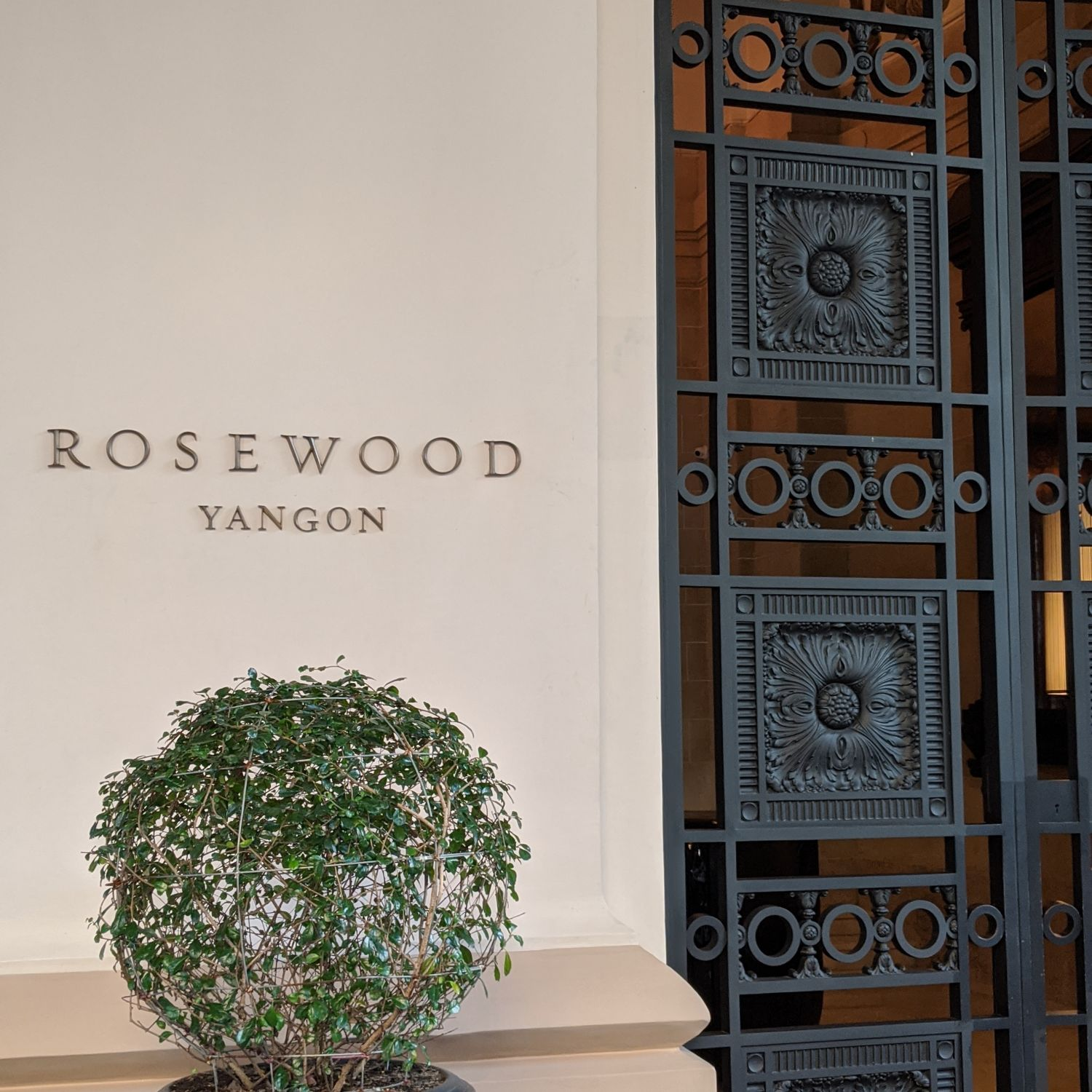 rosewood yangon entrance