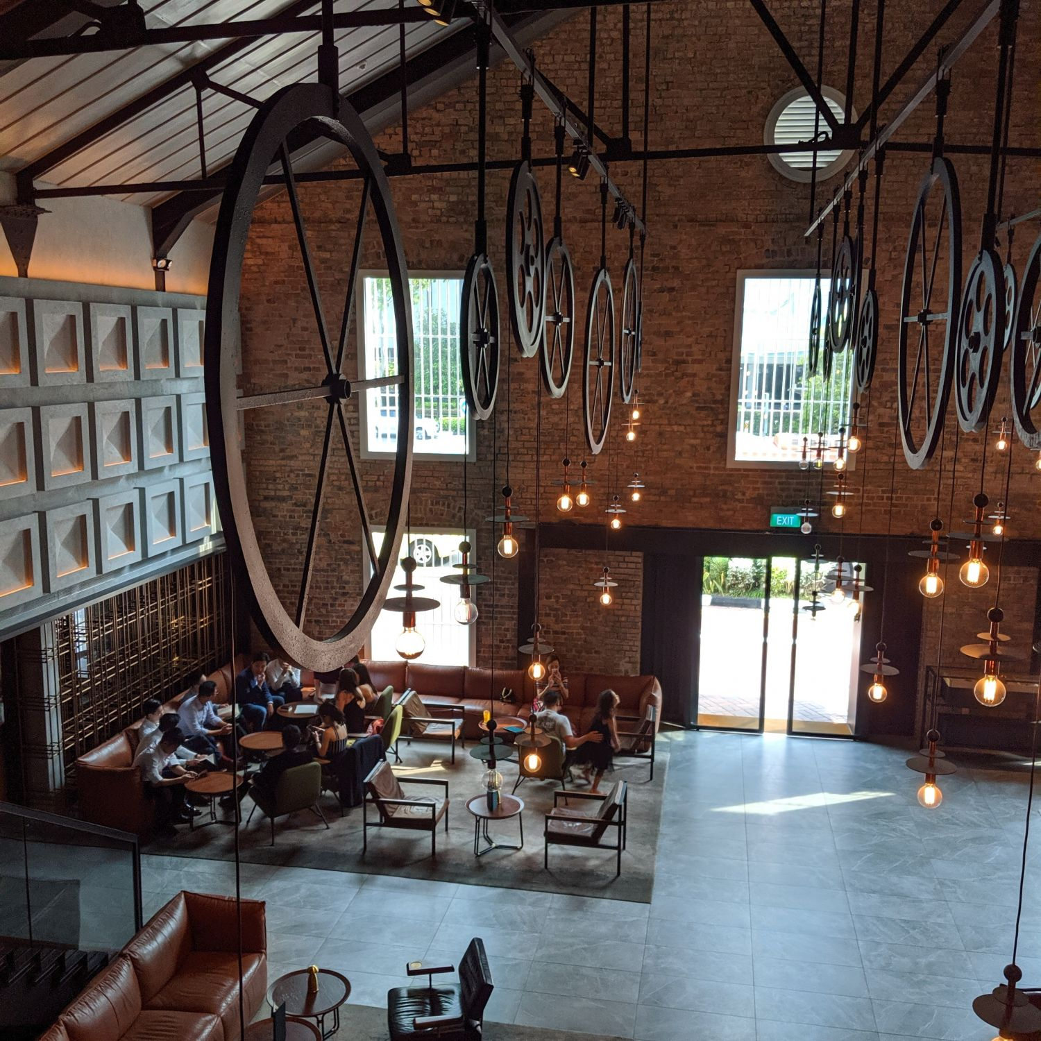 the warehouse hotel lobby
