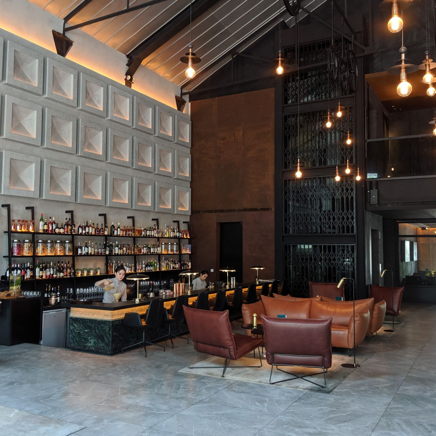the warehouse hotel lobby bar
