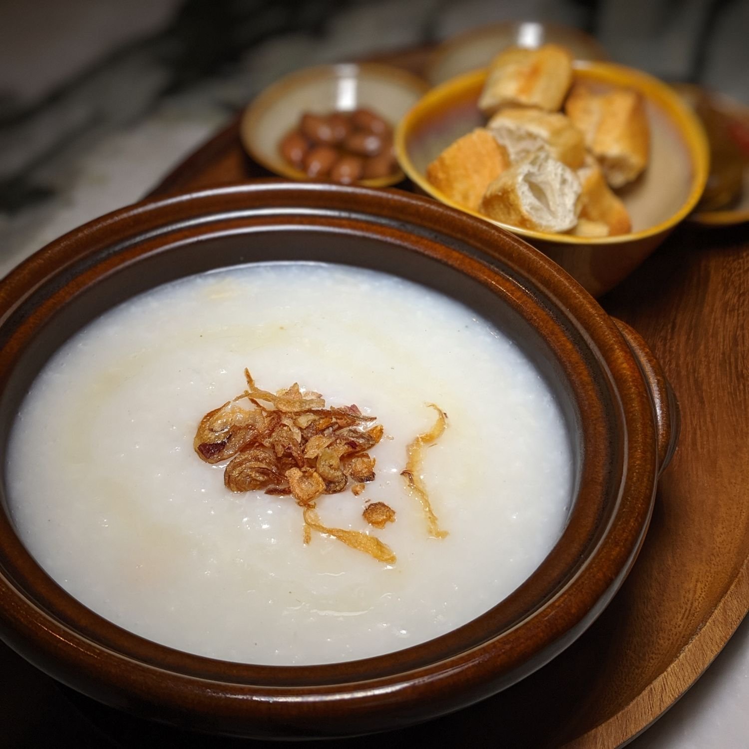 the warehouse hotel po restaurant breakfast classic singaporean congee